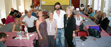 Secret Millionaire Lee Stafford and family with Jan McCarthy CALLplus Salford